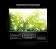 Website template with bubbled banner Stock Photos