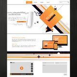 Website template for business presentation with abstract design. Vector illustration. Royalty Free Stock Photos