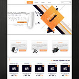 Website template for business presentation with abstract design. Vector illustration. Royalty Free Stock Image