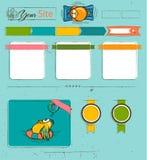 Website template with cartoon birds. Stock Image