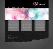 Website template. Website template with circles. Vector art Royalty Free Stock Photos