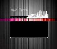 Website template with city. Stock Images