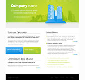 Website template with city. Royalty Free Stock Image