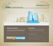 Website template with city. Stock Photo