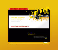 Website template with city. Royalty Free Stock Photo