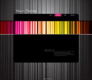 Website template with colored curtain. Vector art Royalty Free Stock Images