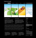Website template concept Royalty Free Stock Image