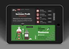 Website template-concept for mobile application Stock Images