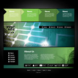 Website Template. Dark Green Abstract Web Site Design Template Illustration with Networks Concept and Cityscape Background for Business or Technology - Freely Royalty Free Stock Photos