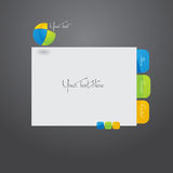 Website template design. Vector Stylized web site design template Royalty Free Stock Image