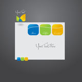 Website template design. Vector Stylized web site design template Royalty Free Stock Photography