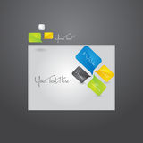 Website template design. Royalty Free Stock Photo
