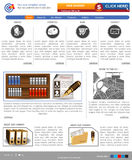Website template 39. Website template design along with icons and images Stock Photo