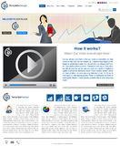 Website template 84. Website template design along with icons and images. Business Stock Illustration