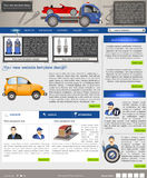 Website template 42. Website template design along with icons and images. Car service related Royalty Free Stock Photography