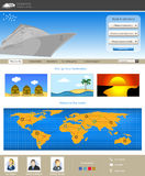 Website template 75 Royalty Free Stock Images