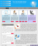 Website template 44. Website template design along with icons and images. Dental care related Stock Images