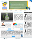 Website template 56. Website template design along with icons and images. Education related vector illustration