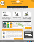 Website template 40. Website template design along with icons and images. Fitness related royalty free illustration