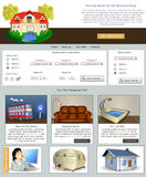 Website template 70. Website template design along with icons and images. House for hire Stock Photo