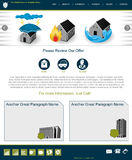 Website template 60. Website template design along with icons and images. Insurance related Royalty Free Stock Photos