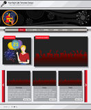 Website template 47. Website template design along with icons and images. Night life related vector illustration