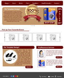 Website template 76 Royalty Free Stock Photography