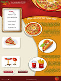 Website template 31. Website template design along with icons and images  Pizza restaurant related Stock Photos