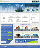 Website template 43. Website template design along with icons and images. Real estate related Stock Images