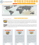 Website template 16. Website template design along with icons and images. Shipping/transport related Stock Photos