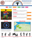 Website template 52. Website template design along with icons and images. Summer festival related Stock Photography