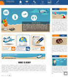 Website template 12. Website template design along with icons and images Travel agency related vector illustration