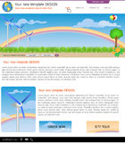 Website template 17. Website template design along with icons and images.  Wind energy related Vector Illustration
