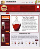 Website template 46. Website template design along with icons and images. Wine cellar related Stock Image