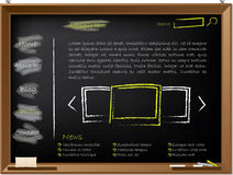Website template design on blackboard Stock Photography