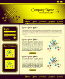 Website template design brown gold. Website template design, brown and gold header with login box, clean layout style stock illustration