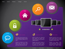 Website template design with colorful stickers Stock Photo