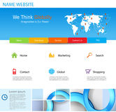 Website Template Design. Concept design Royalty Free Stock Photography