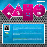 Website template design with dotted background Royalty Free Stock Image