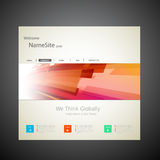 Website Template Design Stock Image