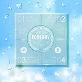 Website template design. Ecology background Stock Images
