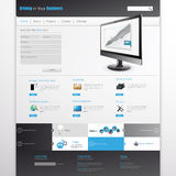 Website Template Design EPS 10 Royalty Free Stock Image