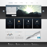 Website Template Design EPS 10 Royalty Free Stock Images