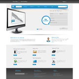 Website Template Design EPS 10 Stock Photo