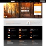 Website Template Design EPS 10 Stock Images