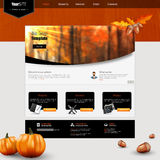 Website Template Design EPS 10 Stock Image