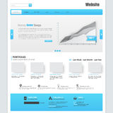 Website Template Design EPS 10 Royalty Free Stock Photos