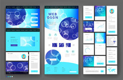 Website template design with interface elements Royalty Free Stock Images