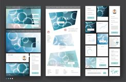Website template design with interface elements Stock Images