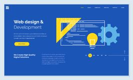 Website template design Stock Photo